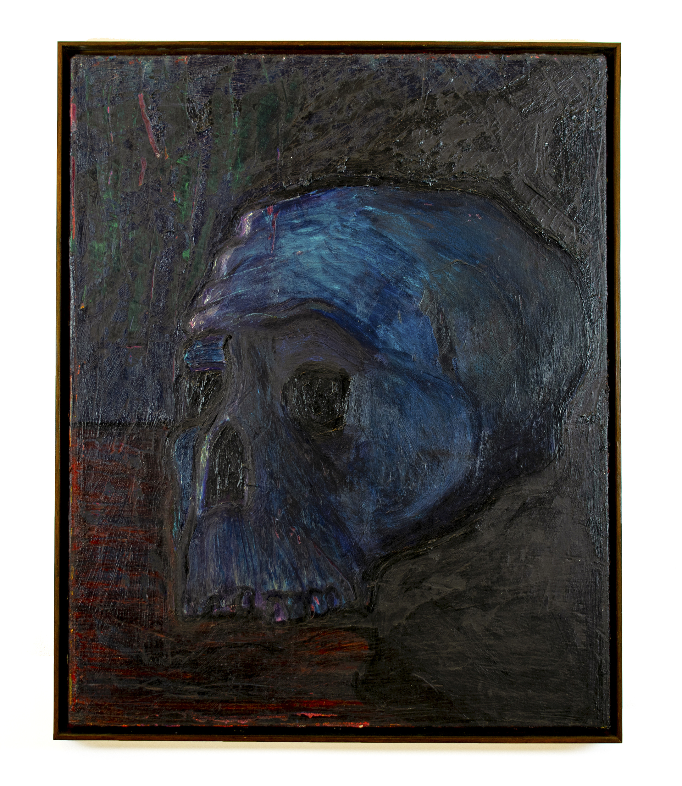 "David Bance, 'Yorick', 20"" x 16"", oil and distemper on linen, 2017"